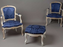 restauration fauteuil tissu Dedar