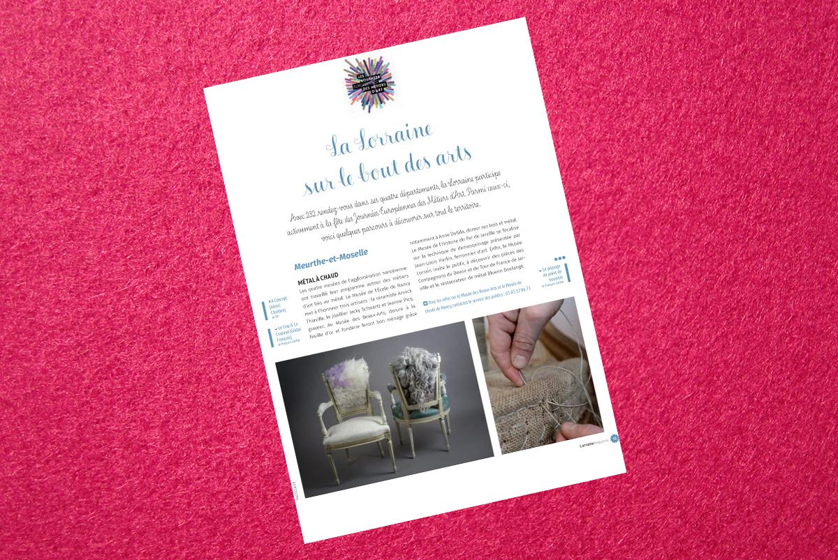 lorraine magazine mars avril 2016 le coq et le crapaud. Black Bedroom Furniture Sets. Home Design Ideas