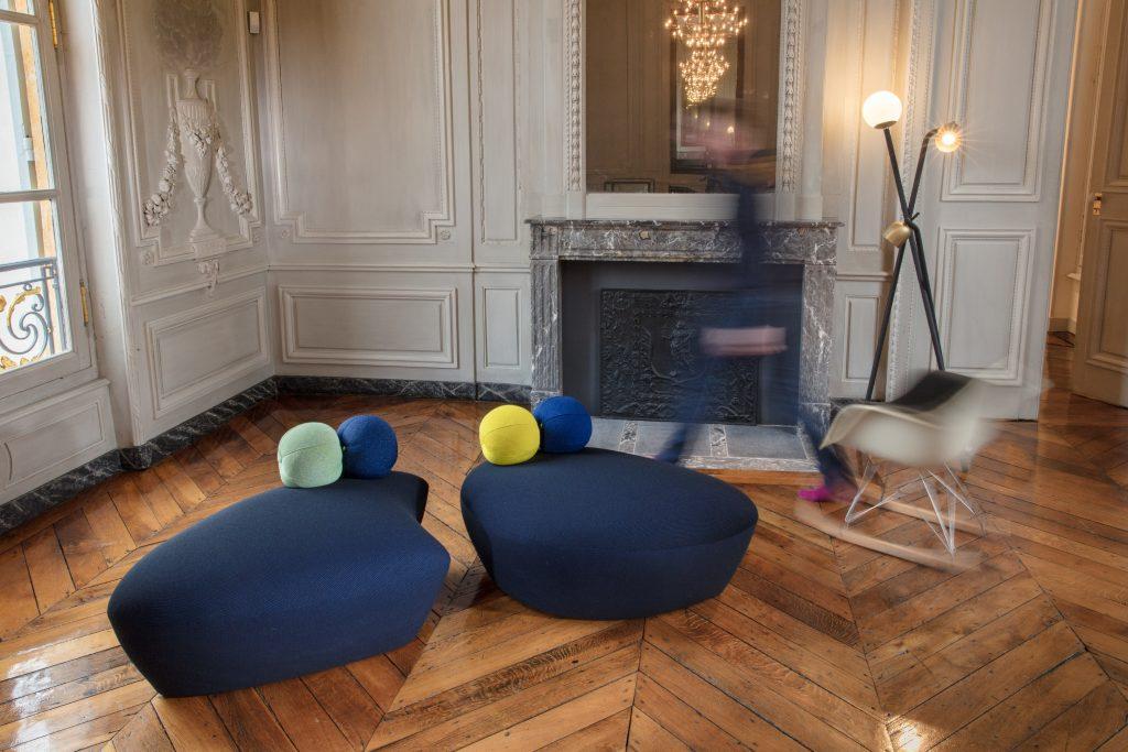 Création poufs et fauteuils, Le Coq et Le Crapaud